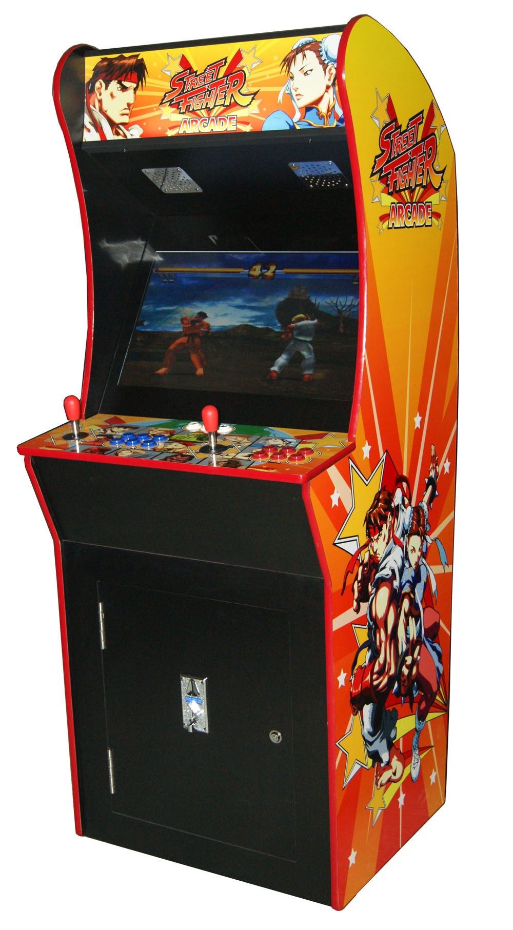 arcade rewind 2100 in 1 upright arcade machine street fighter. Black Bedroom Furniture Sets. Home Design Ideas