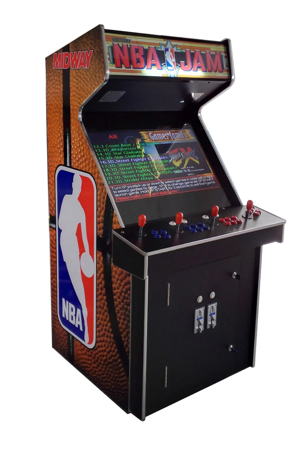 arcade rewind 3500 in 1 upright arcade machine with nba jam. Black Bedroom Furniture Sets. Home Design Ideas