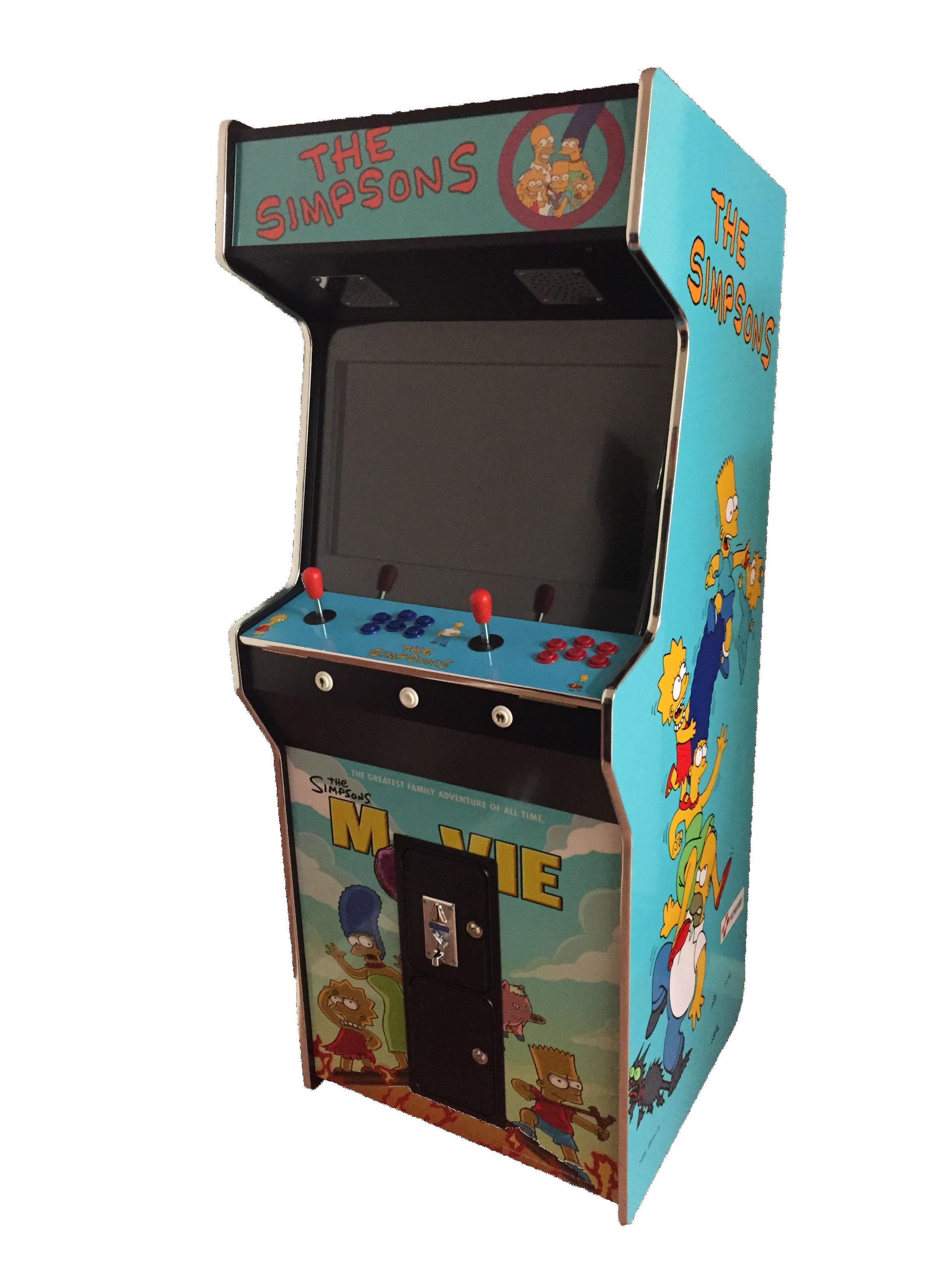 Arcade Rewind 3500 Game Upright Arcade Machine Simpsons