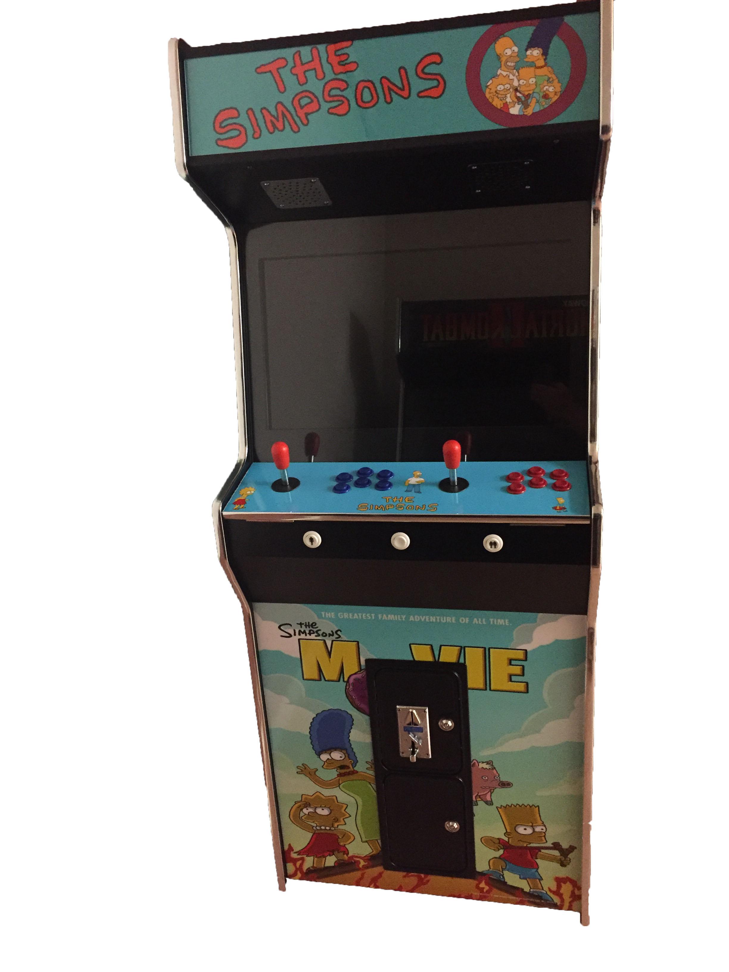 Arcade Rewind 3500 Game Upright Arcade Machine Simpsons