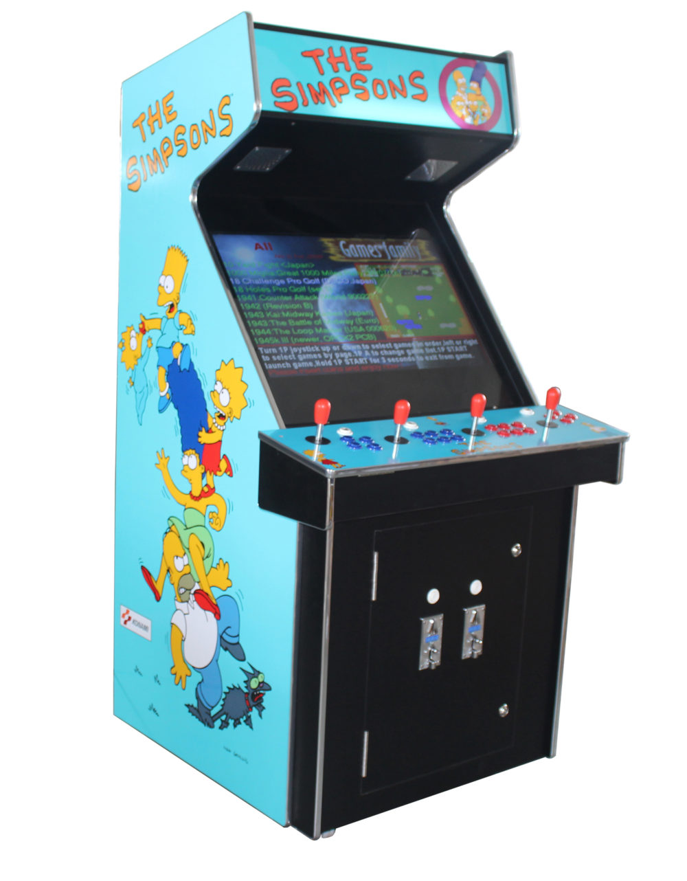 Arcade Rewind 3500 in 1 Upright Arcade Machine With Simpsons for sale