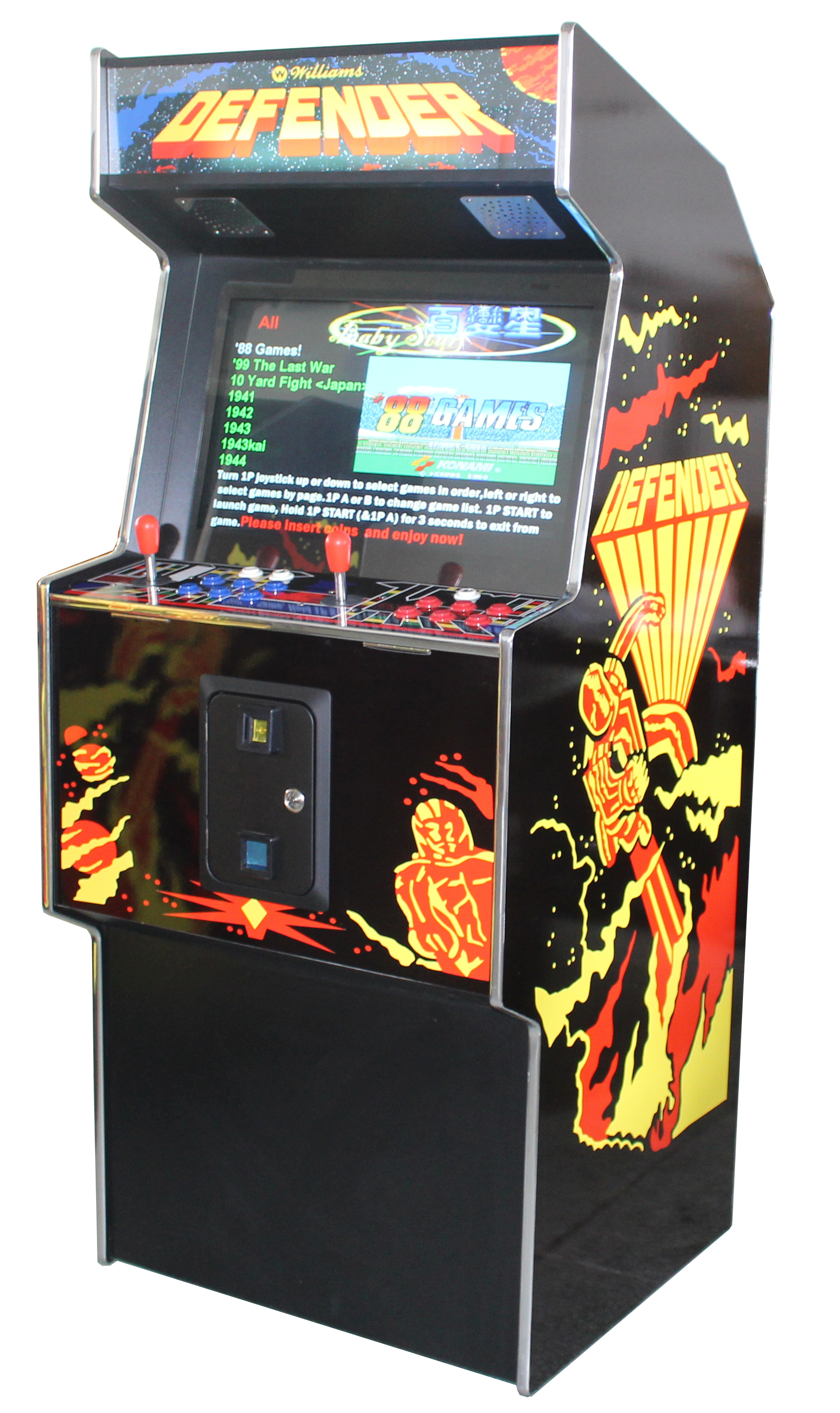 Arcade Rewind 3500 Game Upright Arcade Machine Defender