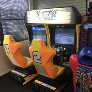 USED Sega NASCAR Twin Arcade Driving Machine