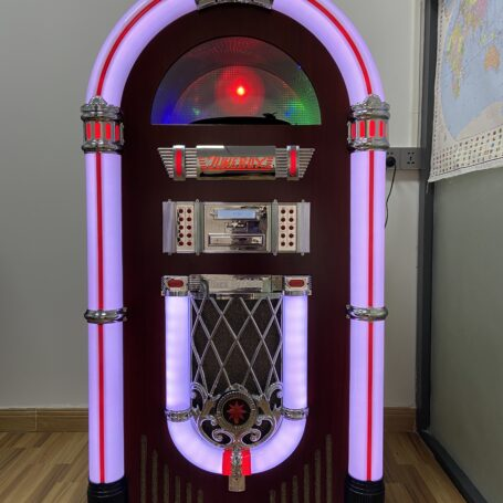 Full Size Classic 7-Color Changing LED Vinyl Jukebox QLD