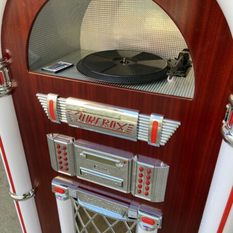 Full Size Classic 7-Color Changing LED Vinyl Jukebox WA