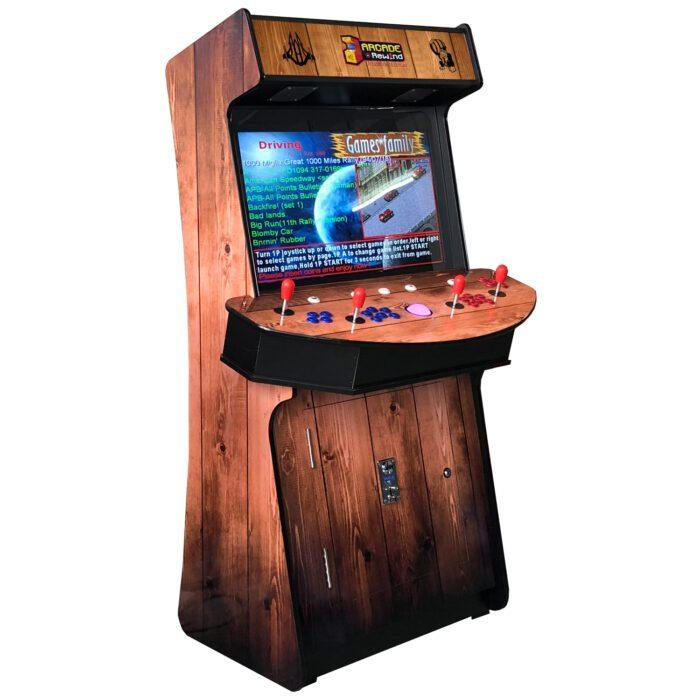 Arcade Rewind Woody 3500 Upright Arcade Machine 4 Player Trackball